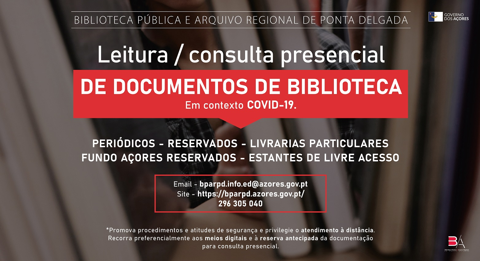 Leitura / Consulta presencial de documentos de biblioteca